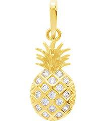 ciondolo ananas in oro giallo e zirconi per donna