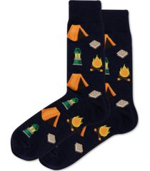 hot sox men's camping crew socks