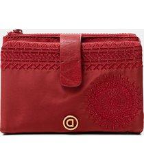 medium coin purse zipper - red - u