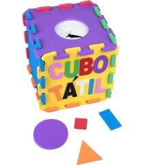 cubo tátil em eva com 22 peças - carlu