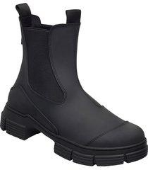 recycled rubber regnstövlar skor svart ganni