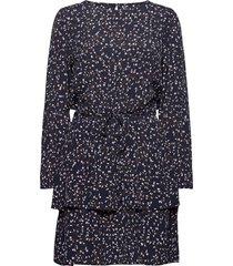 berthe jalina short dress aop kort klänning blå moss copenhagen