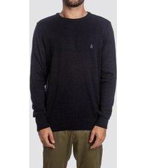 blusa tricot volcom classic stone masculina