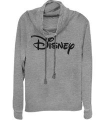 fifth sun women's basic disney logo fleece cowl neck sweatshirt