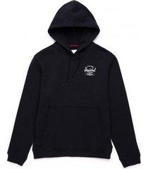 herschel trui supply co. men pullover hoodie classic logo black white-l