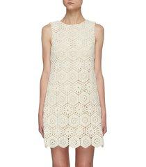 'clyde' geometric crochet shift dress