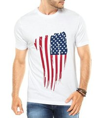 camiseta criativa urbana bandeira eua usa