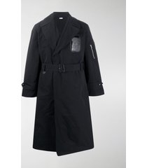 random identities fitted belted trench coat