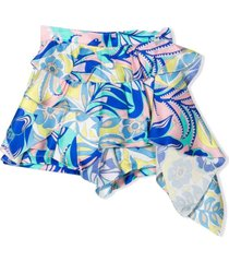 emilio pucci multicolour silk blend shorts