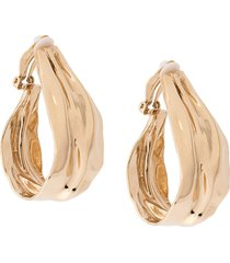 annelise michelson draped clip-on earrings - gold