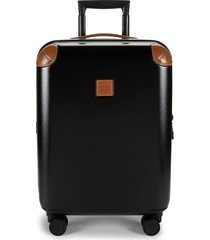 """bric's women's amalfi 21"""" carry-on spinner - silver"""