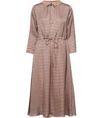becca retro dress jurk knielengte bruin mos mosh