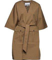 double cotton zomerjas dunne jas bruin ganni
