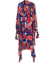 niccolo dress in ultramarine