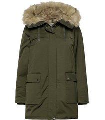 jackets outdoor woven parka lange jas jas groen esprit casual