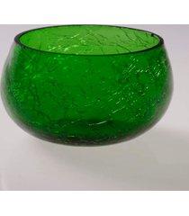 cachepot vela- pashmina- craquelado- verde