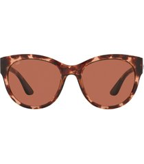 costa del mar coasta del mar maya 55mm polarized cat eye sunglasses in pink tortoise at nordstrom