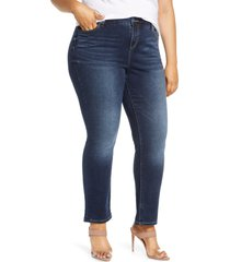 women's slink jean high waist straight leg jeans