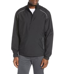 men's cutter & buck 'beacon' weathertec wind & water resistant jacket, size small - black