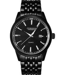 reloj curren 8052 hombres lujo casual cuarzo negro
