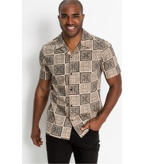 overhemd met korte mouwen en print