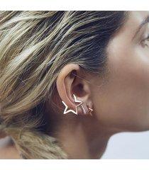 orecchini delle donne della stella di punk hollow nessun clip di piercing dell'orecchio per monili di costume del partito della ragazza delle donne