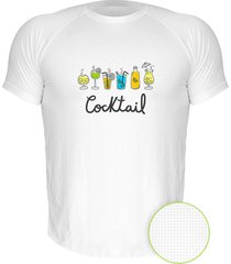 camiseta manga curta nerderia cocktail branco - branco - masculino - dafiti