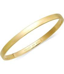kate spade new york bracelet, 12k gold-plated heart of gold idiom bangle bracelet