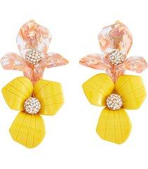 trillium bouquet' floral crystal earrings
