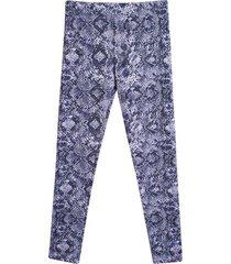 leggings sport escamas color azul, talla l