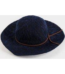 sydney floppy hat in navy - navy