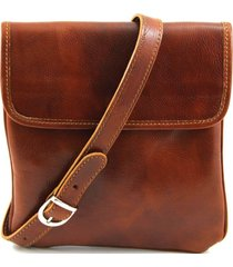 tuscany leather tl140987 joe - borsello in pelle a tracolla miele
