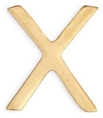 'x' 18k yellow gold charm - send a kiss