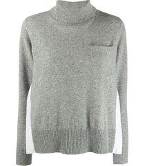 light grey wool knit pullover