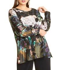 plus size women's marina rinaldi bahamas silk twill tunic