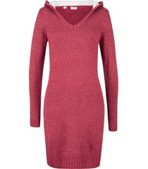 abito in maglia con cappuccio soffice (rosso) - john baner jeanswear
