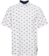 adcrs srtch wvn kortärmad skjorta vit adidas golf