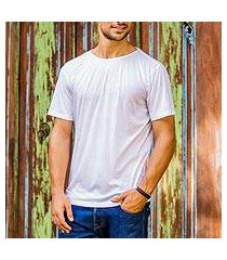men's cotton founder's t-shirt, 'white kuta breeze' (indonesia)