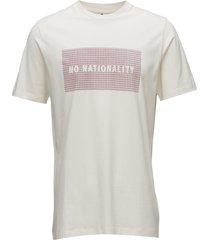 babu print tee 3345 t-shirts short-sleeved creme nn07