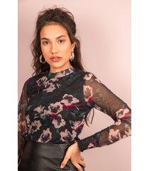 femme9 shirt / top zwart julia