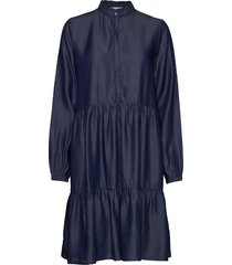 anna ls dress korte jurk blauw soft rebels