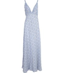 giovanni bedin slip fitted long dress w/ajour