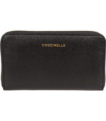 coccinelle logo zip around wallet