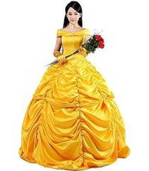 beauty and the beast costume women's beauty belle princess cosplay dress gown