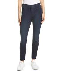 eileen fisher stretch denim leggings, size small in utility blue at nordstrom
