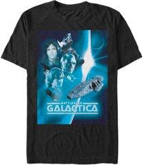 fifth sun battlestar galactica men's retro poster short sleeve t-shirt
