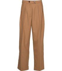 francoise trousers 11302 wijde broek bruin samsøe & samsøe
