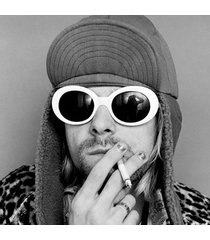 fashion women oval sunglasses nirvana kurt cobain sunglasses men vintage retro f