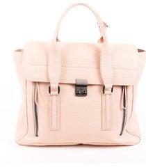 3.1 phillip lim pashli large pink calfskin satchel bag pink sz: m