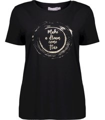 geisha 12028-46 999 t-shirt make a dream ... black/silver